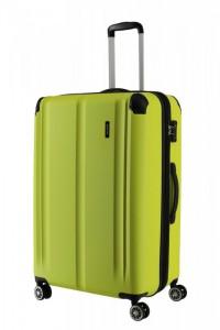 Travelite City 4w L cestovní kufr TSA 77 cm 113/124 l Lemon