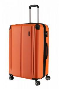 Travelite City 4w L cestovní kufr TSA 77 cm 113/124 l Orange