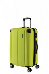 Travelite City 4w M cestovní kufr TSA 68 cm 78/86 l Lemon