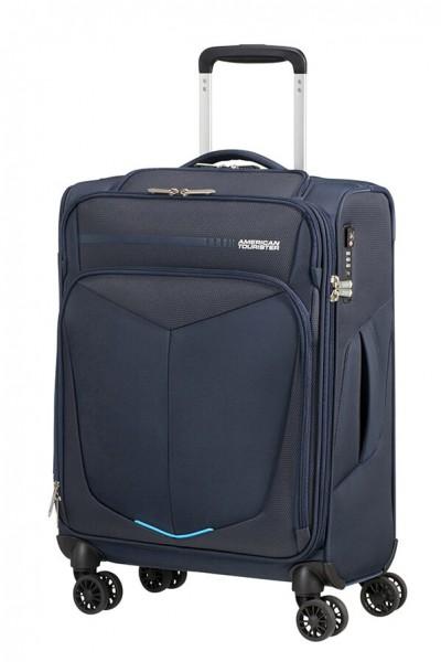 American Tourister Kabinový cestovní kufr Summerfunk Bizz Smart Spinner 78G 39,5 l – tmavě modrá