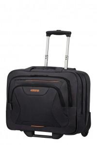 """American Tourister Taška na kolečkách At Work Rolling Tote 33G 22 l 15.6"""" – černá/oranžová"""