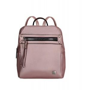 Titan Spotlight Zip Backpack Metallic Pink