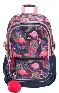 BAAGL Dívčí školní batoh Flamingo A-7207 25 l – růžová