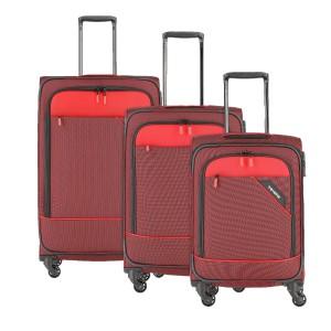 Travelite Derby 4w S,M,L Red – sada 3 kufrů