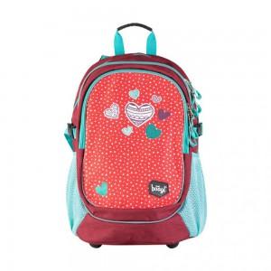 BAAGL Školní batoh Srdce A-5329 24 l – červená