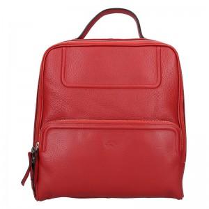 Dámský kožený batoh Katana Radka – červená