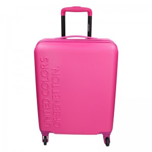 Kabinový cestovní kufr United Colors of Benetton Aura – růžová 34l