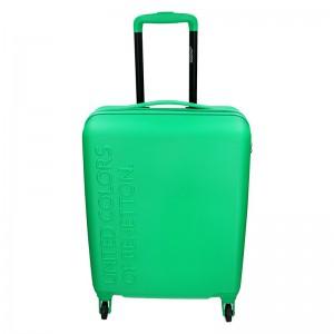 Kabinový cestovní kufr United Colors of Benetton Aura – zelená 34l