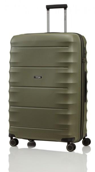 Titan Highlight 4w L cestovní kufr TSA 76 cm 112 l Khaki