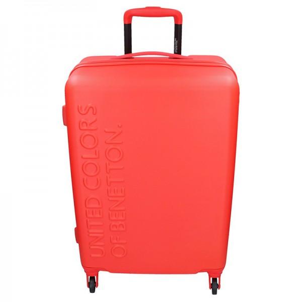 Cestovní kufr United Colors of Benetton Aura L – červená 95l
