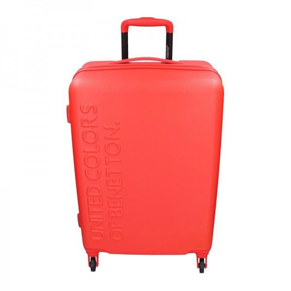 Cestovní kufr United Colors of Benetton Aura M – červená 74l