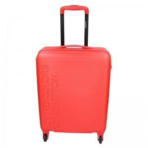 Kabinový cestovní kufr United Colors of Benetton Aura S – červená 34l