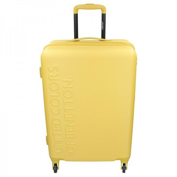 Cestovní kufr United Colors of Benetton Aura L – žlutá 95l