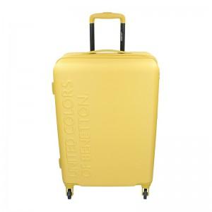 Cestovní kufr United Colors of Benetton Aura M – žlutá 74l