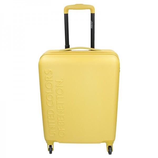 Kabinový cestovní kufr United Colors of Benetton Aura S – žlutá 34l