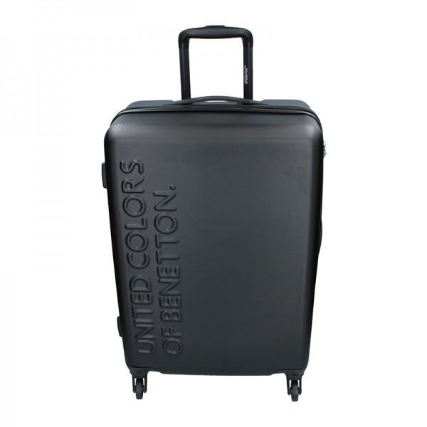 Cestovní kufr United Colors of Benetton Aura M – černá 74l