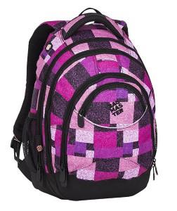 Bagmaster Studentský batoh ENERGY 8 D BLACK/PINK/VIOLET 23 l