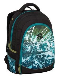 Bagmaster Studentský batoh DIGITAL 9 B BLUE/GREEN/BLACK 24 l