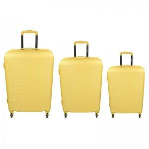 Sada 3 cestovních kufrů United Colors of Benetton Aura S,M,L – žlutá