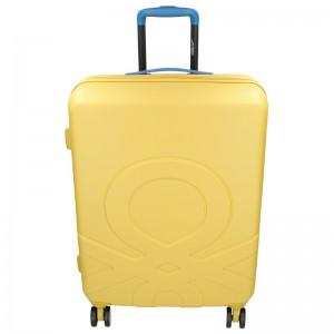 Cestovní kufr United Colors of Benetton Kanes L – žlutá 95l