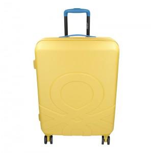 Cestovní kufr United Colors of Benetton Kanes M – žlutá 74l