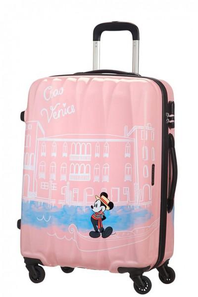 American Tourister Cestovní kufr Disney Legends Spinner 19C 62,5 l – Take Me Away Mickey Venice