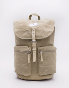 Batoh Sandqvist Roald Beige with Natural Leather Malé (do 20 litrů)