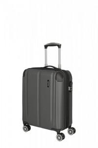 Travelite City 4w S palubní kufr 55x40x20 cm 40/45 l Anthracite