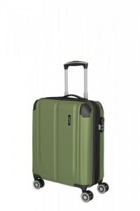 Travelite City 4w S palubní kufr 55x40x20 cm 40/45 l Green