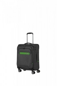 Travelite Madeira 4w S palubní cestovní kufr TSA 55 cm Anthracite/Green