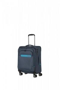 Travelite Madeira 4w S palubní cestovní kufr TSA 55 cm Navy/Blue