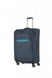 Travelite Madeira 4w L cestovní kufr TSA 77 cm 86/99 l Navy/Blue