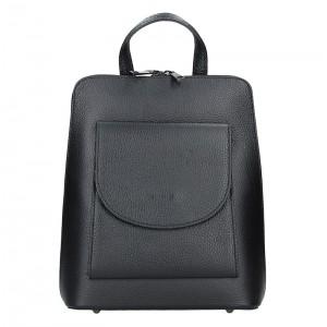 Kožený dámský batoh Unidax Malva – černá