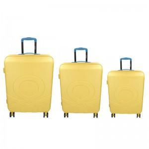 Sada 3 cestovních kufrů United Colors of Benetton Kanes S,M,L – žlutá