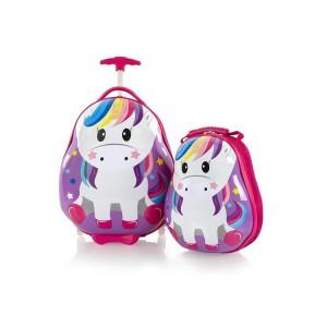 Heys Travel Tots Kids dětská sada – cestovní kufr 46 cm a batoh 33 cm Unicorn