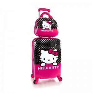Heys Kids Hello Kitty dětská sada – 4w cestovní kufr 46 cm a kosmetický kufřík