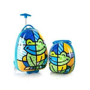 Heys Britto for Kids dětská sada – cestovní kufr 46 cm a batoh 31 cm Frog