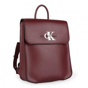 Calvin Klein Dámský batoh CKJ Monogram K60K605787 – vínová