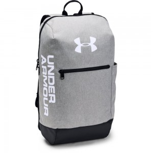UA Patterson Backpack-GRY Steel Medium Heather / Black / White