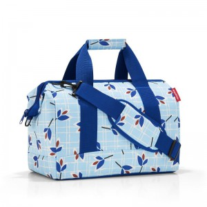 Reisenthel Allrounder M brašna ve tvaru doktorského kufříku 40 cm Leaves Blue