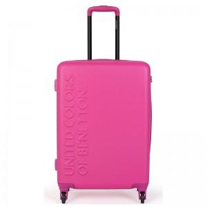 Cestovní kufr United Colors of Benetton Timis L – růžová 95l