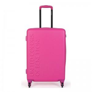 Cestovní kufr United Colors of Benetton Timis M – růžová 74l