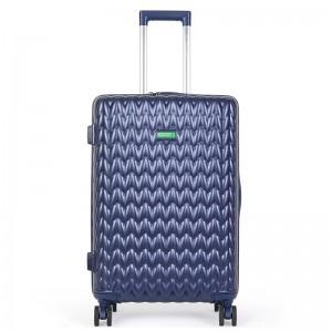 Cestovní kufr United Colors of Benetton Rider M – modrá 74l