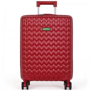 Cestovní kufr United Colors of Benetton Rider M – vínová 74l