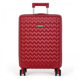 Kabinový cestovní kufr United Colors of Benetton Rider S – vínová 34l