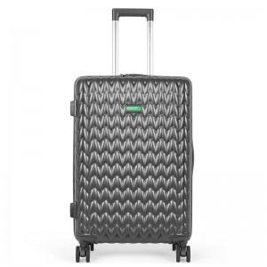 Cestovní kufr United Colors of Benetton Rider M – tmavě šedá 74l
