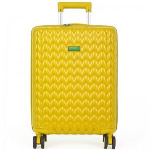 Cestovní kufr United Colors of Benetton Rider M – žlutá 74l