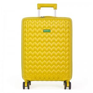 Kabinový cestovní kufr United Colors of Benetton Rider S – žlutá 34l