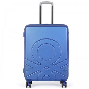 Cestovní kufr United Colors of Benetton Kanes L – modrá 95l
