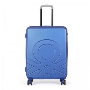 Cestovní kufr United Colors of Benetton Kanes M – modrá 74l